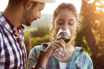 tasting wine in monsaraz