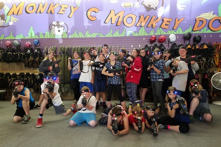 Group of laser taggers