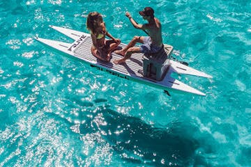 2 people on Catamaran Style Paddle Board