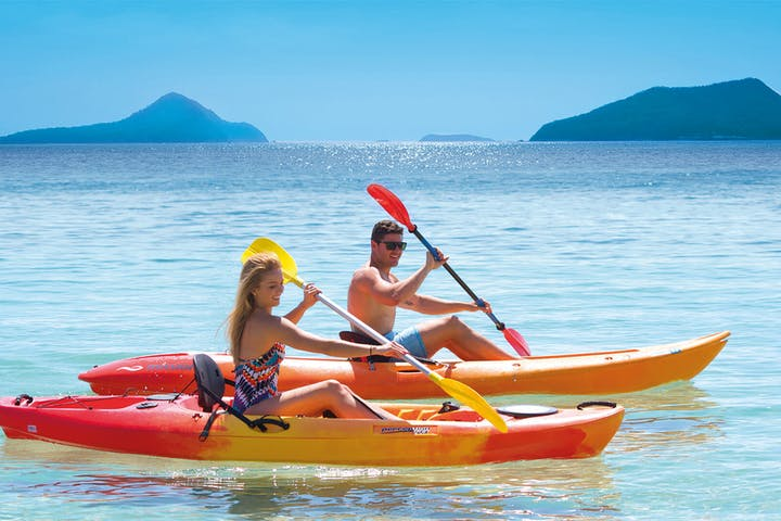 2 Kayaks on shiny day