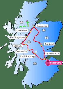Carte du circuit Loch Ness