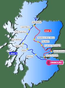 Carte de l'Écosse