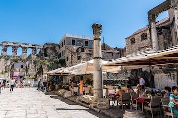 Split old town in Croatia