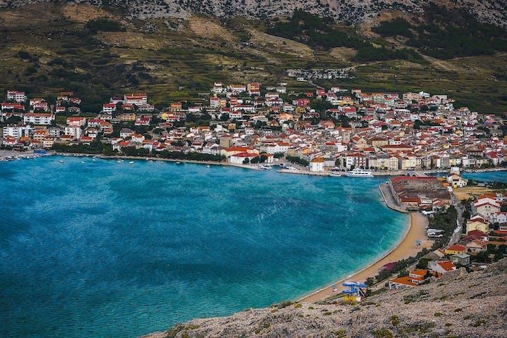 Pag Island coastal area in Croatia