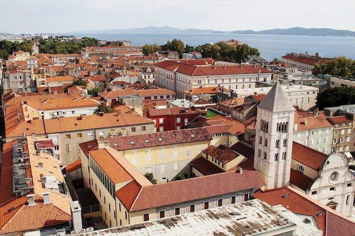Zadar buildings in Croatia