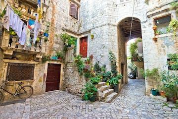 Old stone street of Trogir