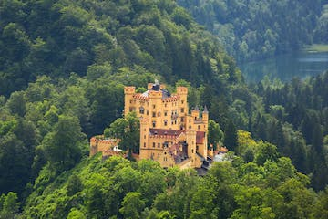 View of Hohenschwangau Castle from a distance