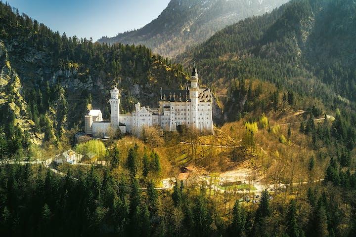 View of Neuschwanstein Castle in autumn
