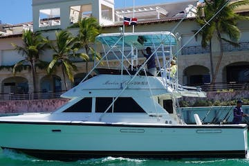 fishing boat trolling through punta cana