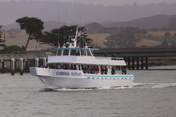 sea goddess boat on the ocean