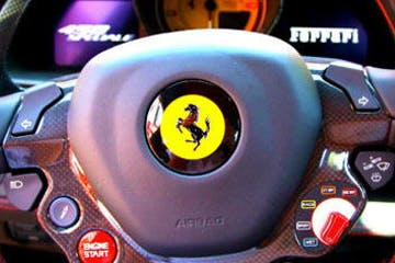 Ferrari command close up