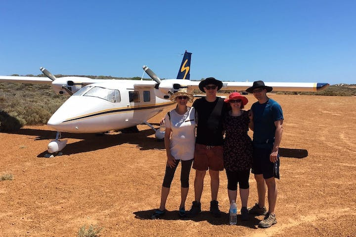 Group of people on East Wallaby Island