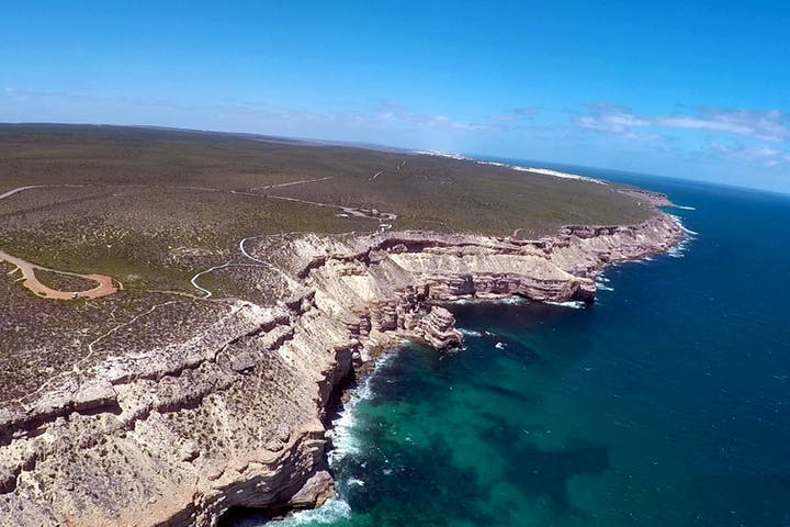 Aerial View Of Murchison Gorges Kalbarri