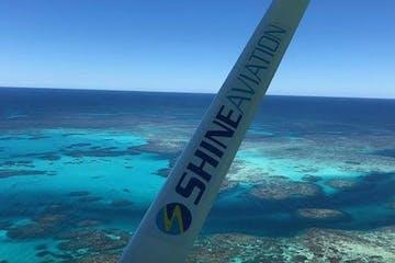 Aerial Pink Lake & Abrolhos Island