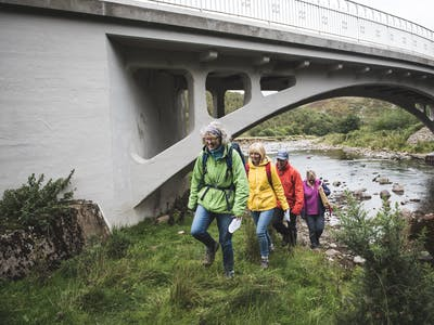 Footsteps art walk in Northumberland