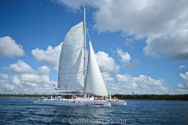 A sailboat on a Punta Cana tour