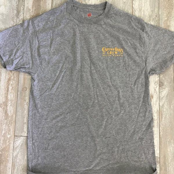 captain don's crew grey t-shirt