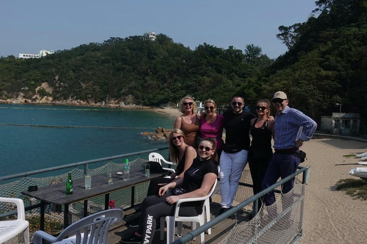 group of people in cheung chau island