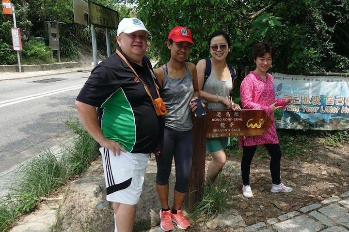 people hike in hong kong