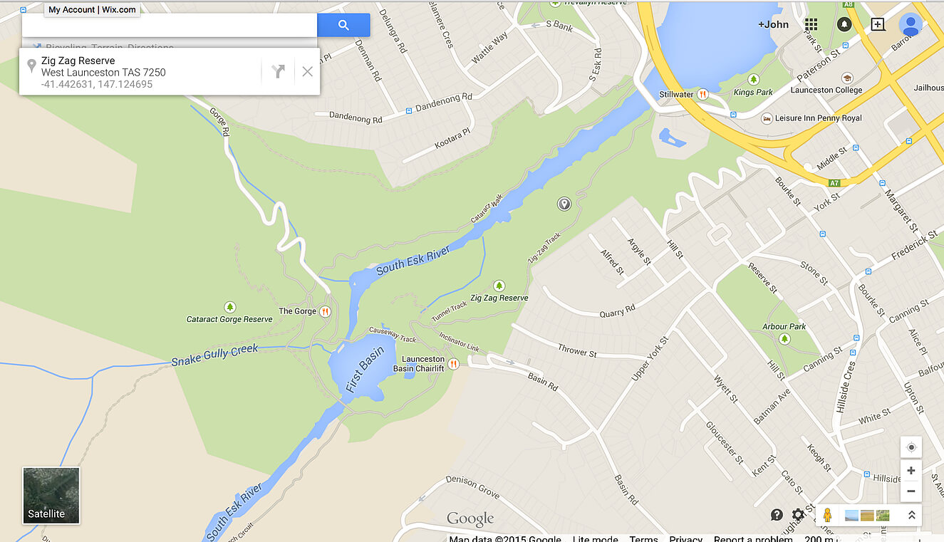 Launceston Cataract Gorge map
