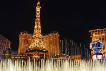 The fountains in Las Vegas