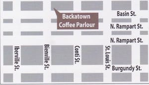 Meeting point for TREME & ST. LOUIS CEMETERY 2 TOUR Backatown Coffee Parlour 301 Basin St Suite 1, New Orleans, LA 70112