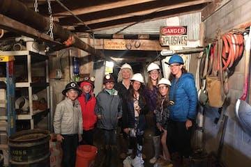people on underground mine tours