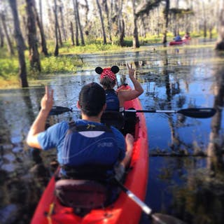 kayak tour in cypress swamp