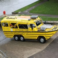 Yellow Duck bus in Windsor