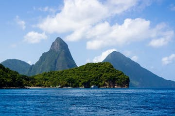 pitons view St Lucia