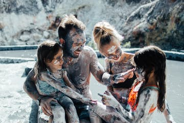 mud bath family