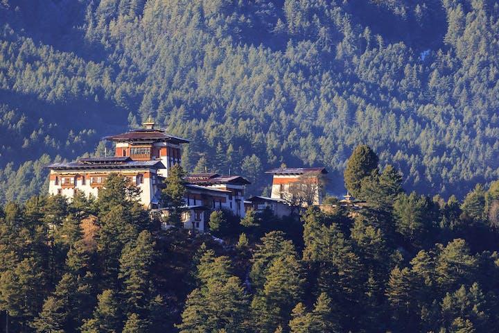 Bumthang Dzong monastery in the Kingdom of Bhutan