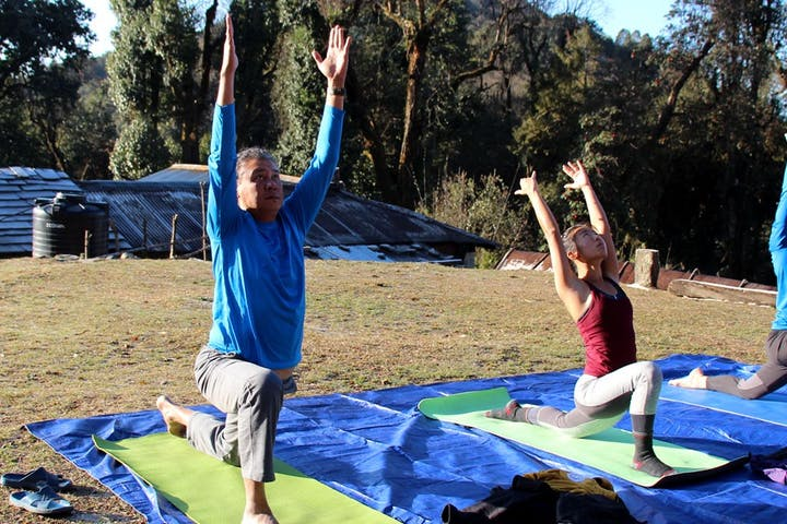 Yoga trek on an off the beaten track