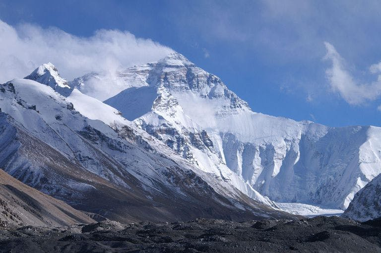 Mount Everest north face from Tibet