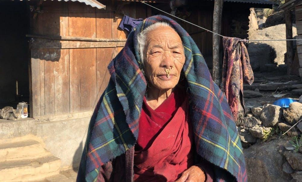 Nepali Woman in a village