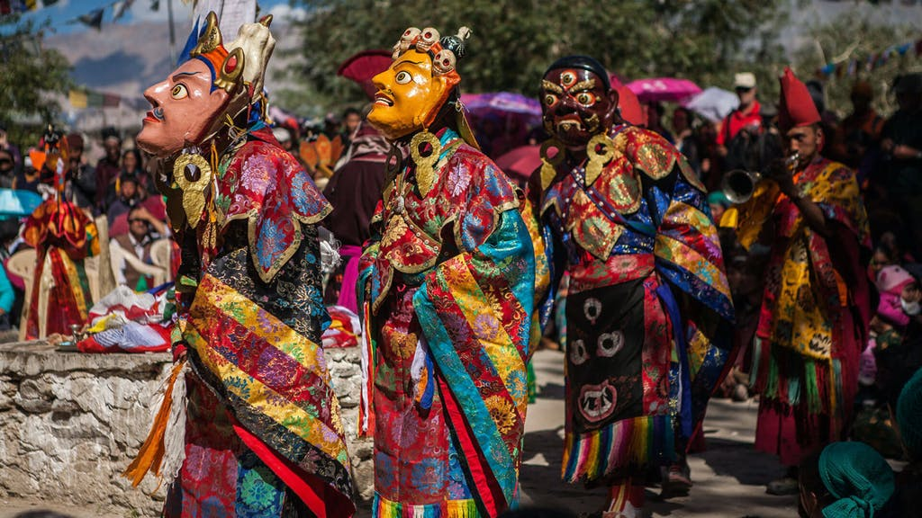 Masked dancers of Ladakh