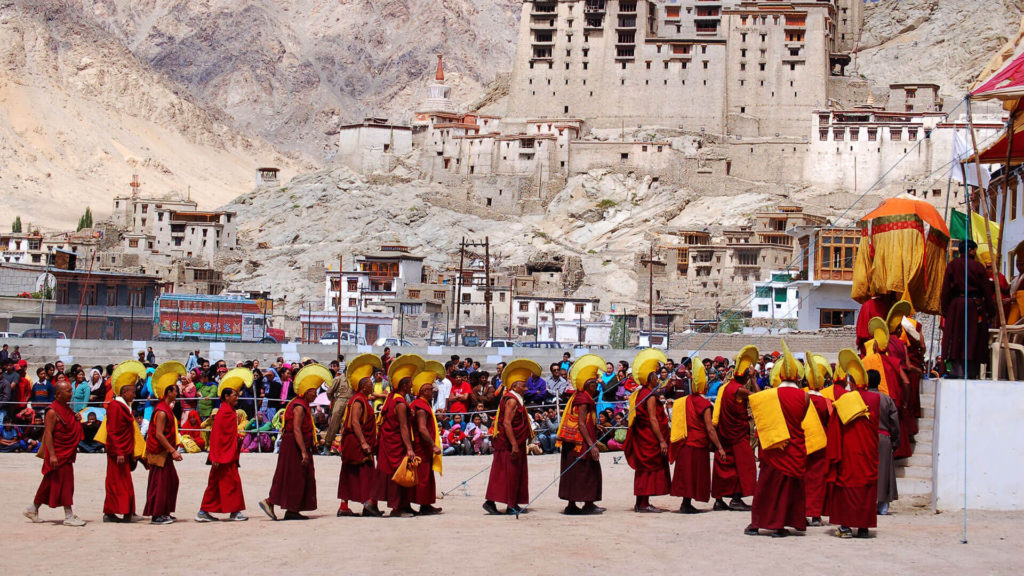Monks during a festival in Ladakh