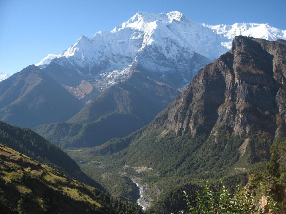 View from Ghyaru, Annapurna circuit
