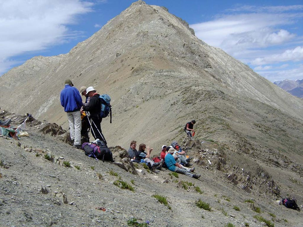 Resting on top of Tar La in Ladakh