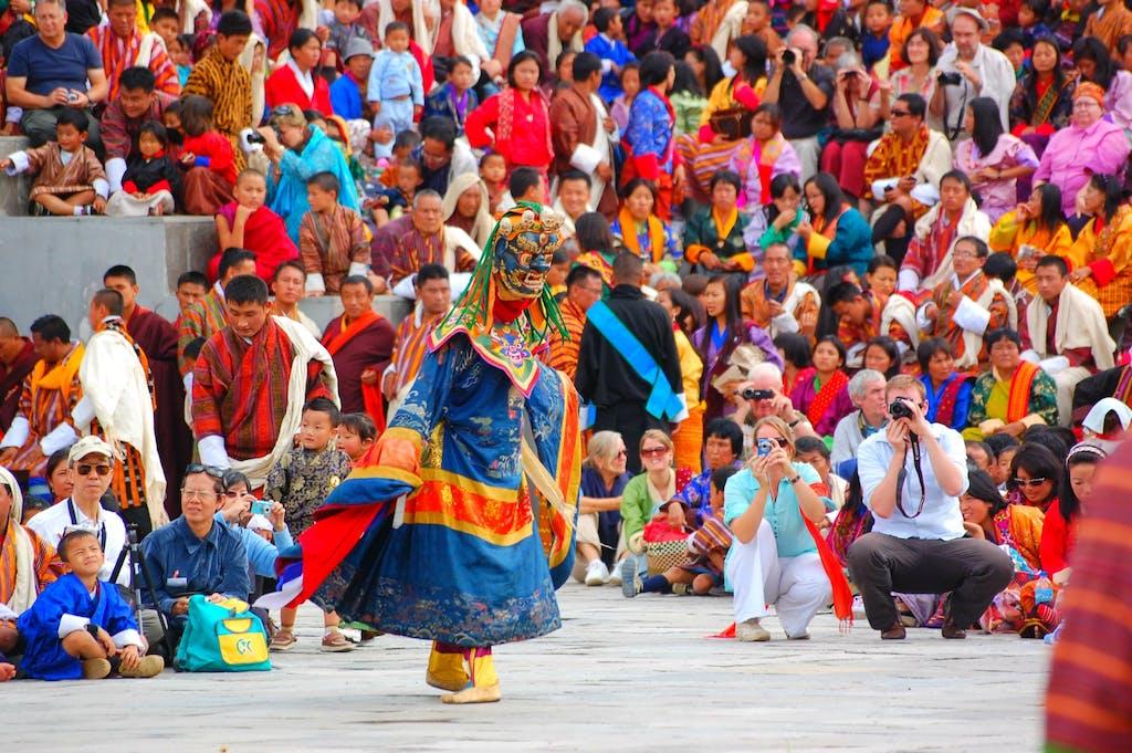 Mask dancers of Bhutan
