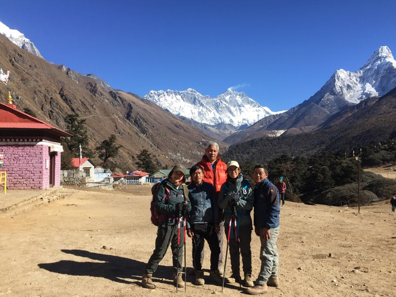 Everest base camp trek during the winter season.