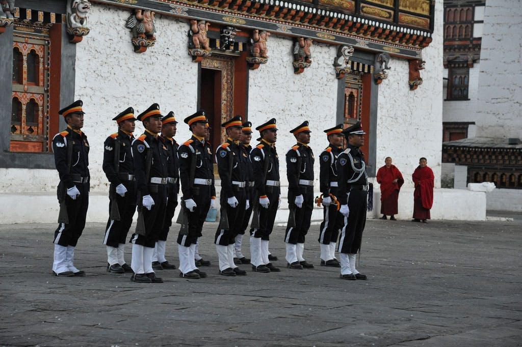 Bhutanese police.