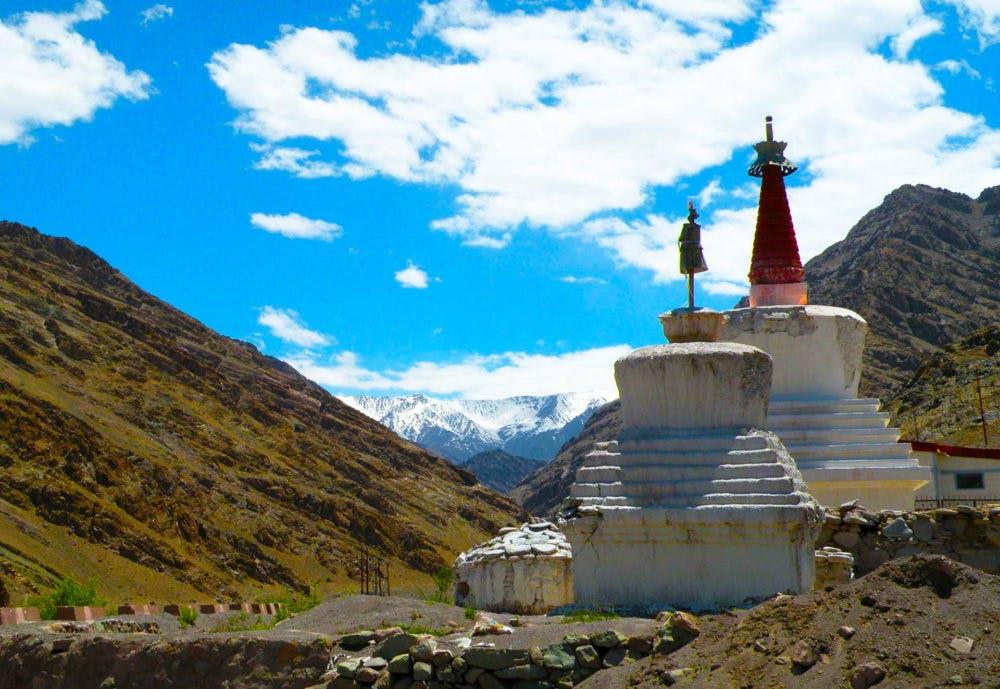Chortens in Ladakh