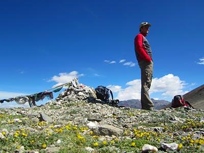 Trekker in Ladakh