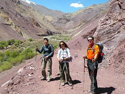Trekkers on a trekking trail.