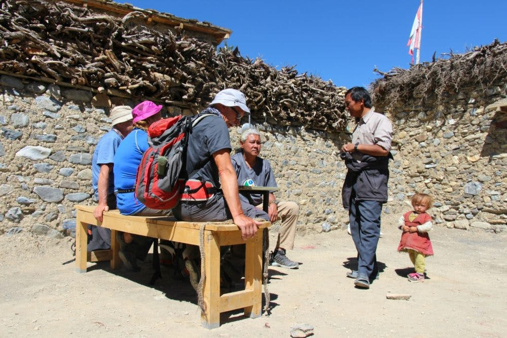 Speaking to Phoksundo village head