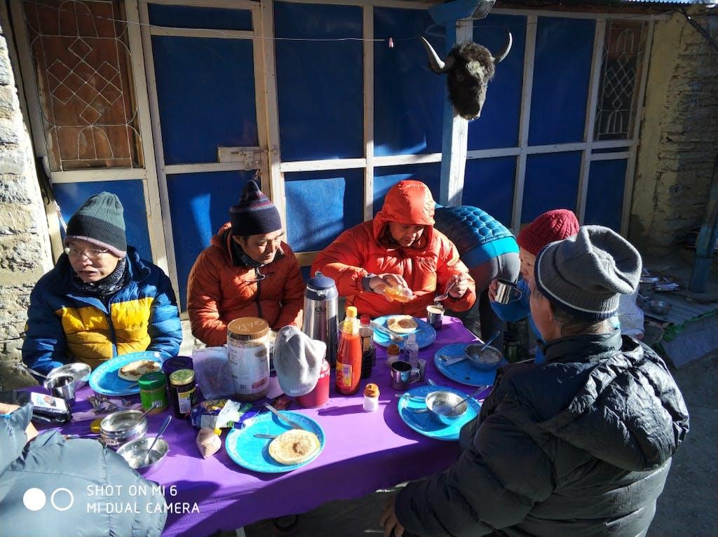 Breakfast at Phu Village