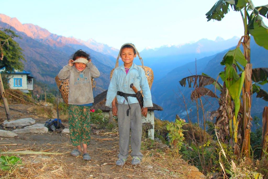 Village kids of Darjeeling