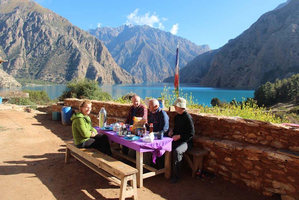 Phoksundo Lake dining