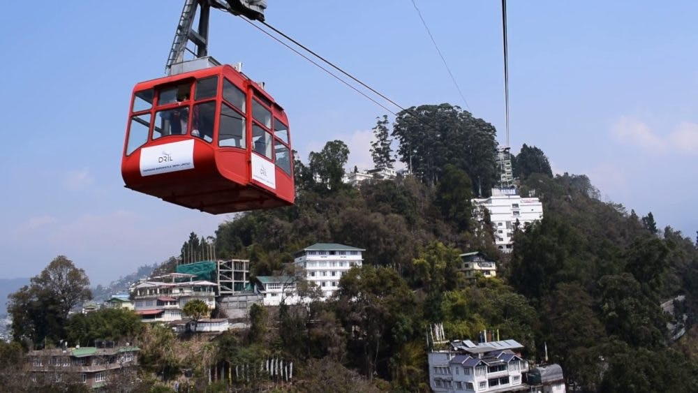 Cable car ride in Sikkim